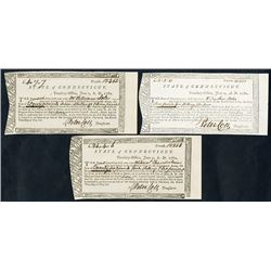 "State of Connecticut, 1780 to 1782 Treasury Office ""Continental Army"" Payment Warrants Trio."