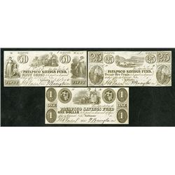 Patapsco Savings Fund, Obsolete Banknote Trio.