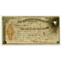 Bankers' Association of Buffalo, 1899? Issued and Cancelled Clearing House Certificate.