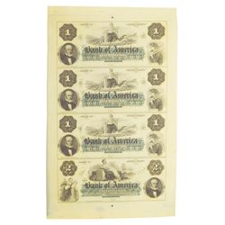 Bank of America Uncut Sheet 1-1-1-2