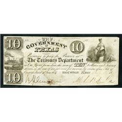 Government of Texas, 1839, Obsolete Note
