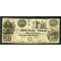 Republic of Texas, 1840, Obsolete Note