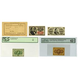 United States Fractional Currency, 1862-1874, Trio of Notes