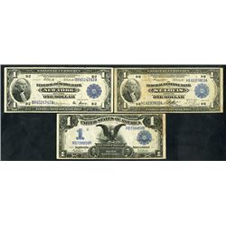 National Currency & Silver Certificate Trio, 1899-1918
