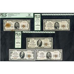 National Currency, Series 1929, Quintet of Notes