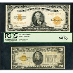 Gold Certificate, Series 1922-1928