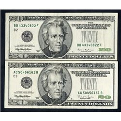 Federal Reserve Note, Series 1996-1999, Error Pair