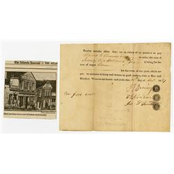 """Slavery Document for Hire of """"Negro Edom"""" from 1827."""