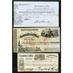 Gold Rush Era, ca.1852-1853 California State Government Warrants.