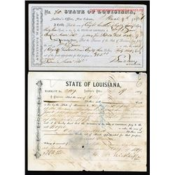 State of Louisiana Auditor's Warrants 1868-1869