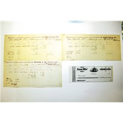 Memorandum of Gold Bullion Deposited at the Assay Office of S. Molitor and Co. ca.1861-64 and Unissu