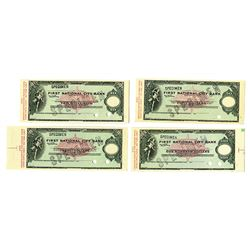 First National City Bank of New York, 1976, Proof Traveler's Checks