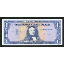 Thomas de la Rue & Co. Ltd. Advertising Note Imitating U.S. Silver Certificate.