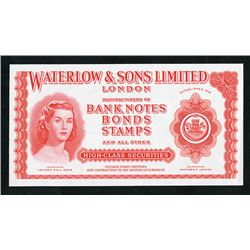 Waterlow & Sons Limited Advertising Note, ca.1940-50's.