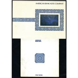 American Bank Note Company Advertising Booklets with Samples of Intaglio Engraving.