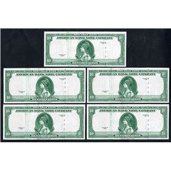 American Bank Note Company, 1929 (ca.1960-80's) Specimen Advertising Note Quintet.