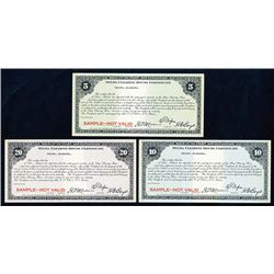 Selma Clearing House, ND ca.1933 Specimen Depression Scrip Note Trio.