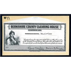 Berkshire County Clearing House Certificate Proof