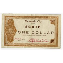 Roosevelt City Scrip, 1933 Depression Scrip.