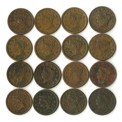 U.S. Large Cents Assortment From 200 Year Old New Jersey Estate, ca.1820 to 1856, Unchecked for Vari