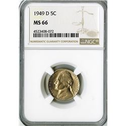 United States: 1949 D Nickel,