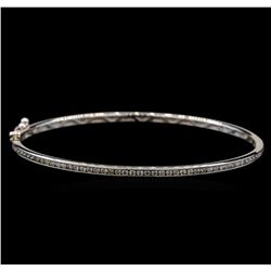 0.75 ctw Diamond Bangle - 14KT White Gold