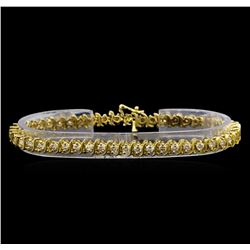 14KT Yellow Gold 4.19 ctw Diamond Tennis Bracelet