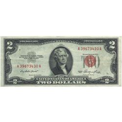 1953 $2 XF/AV Red Seal Note
