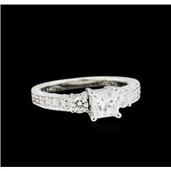 EGL USA Cert 1.11 ctw Diamond Ring - 18KT White Gold