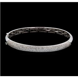 1.50 ctw Diamond Bangle Bracelet - 14KT White Gold
