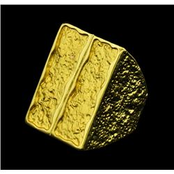 Rectangular Ring - Gold Plated