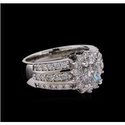 2.08 ctw Diamond Ring - 14KT White Gold