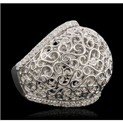 14KT White Gold 0.71 ctw Diamond Ring