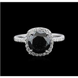 4.03 ctw Black Diamond Ring - 18KT White Gold
