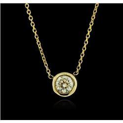 14KT Yellow Gold 0.38 ctw Diamond Necklace