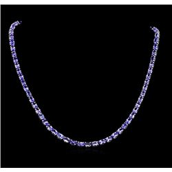 33.50 ctw Tanzanite Necklace - 14KT White Gold