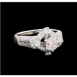 1.64 ctw Diamond Ring - 18KT White Gold
