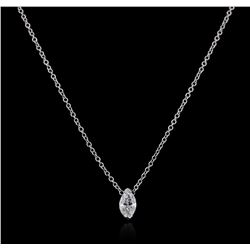 14KT White Gold 0.31 ctw Diamond Necklace