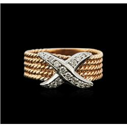 0.25 ctw Diamond Ring - 14KT Two-Tone Gold