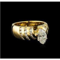 1.69 ctw Diamond Ring - 14KT Yellow Gold