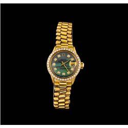Rolex 18KT Yellow Gold Diamond DateJust Ladies Watch