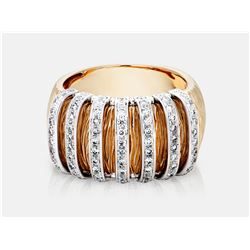 Diamond Ring - 14KT Two-Tone Gold