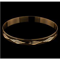 Engraved Bangle Bracelet - 18KT Yellow Gold