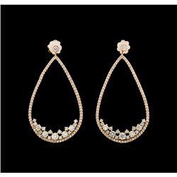 14KT Rose Gold 2.55 ctw Diamond Earrings