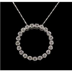 14KT White Gold 1.69 ctw Diamond Pendant With Chain