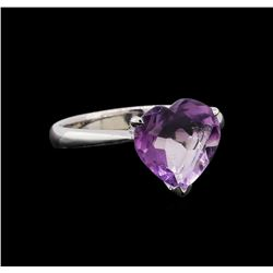 3.23 ctw Amethyst Ring - 18KT White Gold