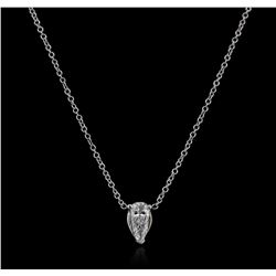 14KT White Gold 0.36 ctw Diamond Solitaire Necklace