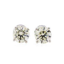 1.53 ctw Diamond Stud Earrings - 14KT White Gold