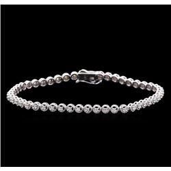 0.75 ctw Diamond Tennis Bracelet - 14KT White Gold