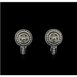 0.15 ctw Diamond Stud Earrings - 18KT White Gold